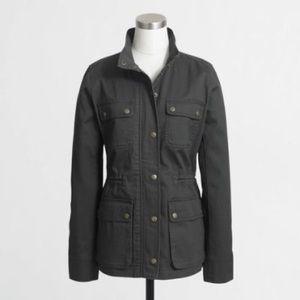 J. Crew factory cinched waist field jacket  green